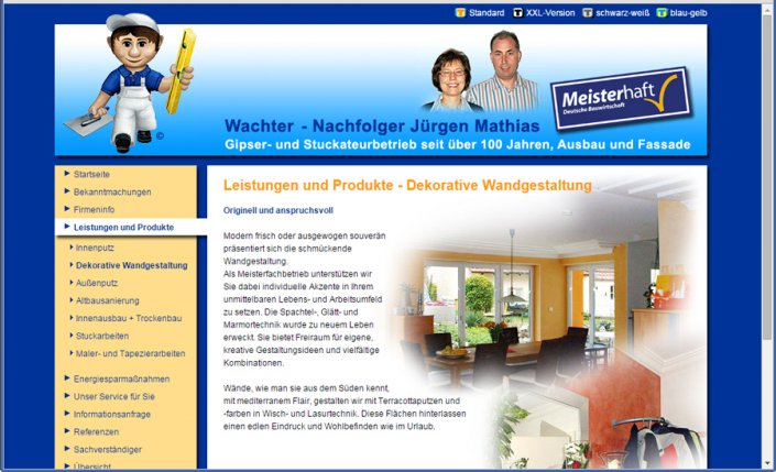 Homepage des Stuckateurmeisters Jürgen Mathias